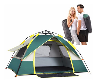 Barraca Camping Acampamento Impermeável 3/4 Pessoas Tecido