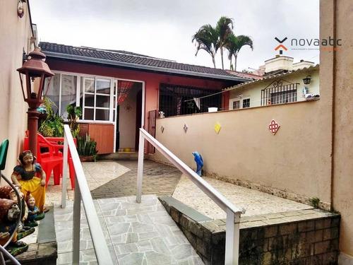 Casa Com 5 Dormitórios À Venda, 450 M² Por R$ 1.700.000 - Campestre - Santo André/sp - Ca0212