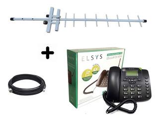 Kit Celular De Mesa Elsys Epfs12 Antena 15dbi Cabo 10m