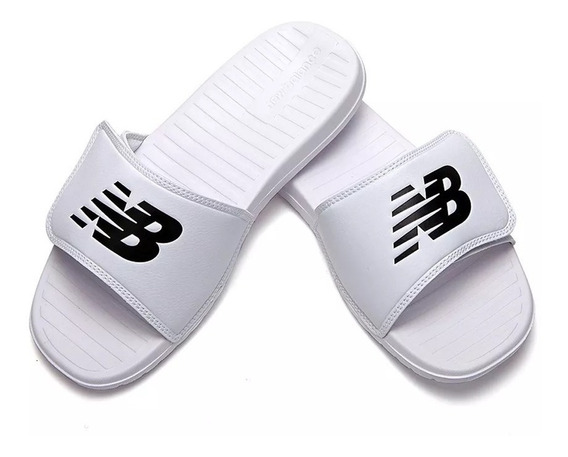 Ojota Chinela New Balance Sd230 Hombre C/ Velcro - Blanco