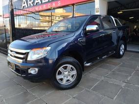 Ford Ranger 3.2 Xlt 2014 Azul Diesel