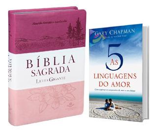 Bíblia Letra Gigante + Livro As 5 Linguagens Do Amor