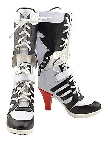 Imagen 1 de 2 de Botas De Harley Quinn Arlequin Para Damas Envio Gratis 3