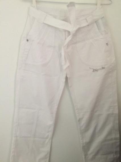 Lilica Ripilica - Calça Branca. Tamanho 10