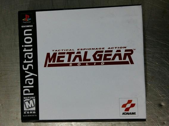 Jogos De Ps1 - Metal Gear Solid Game Box (patch)