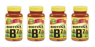 Biotina - Vitamina B7 - Total 240 Cápsulas 500mg 4 Unidades
