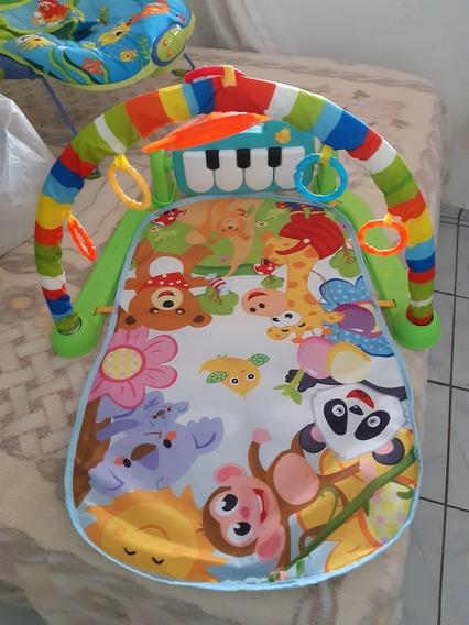 Cadeira Vibra E Toca + Tapete Musical Usado 1 Mês