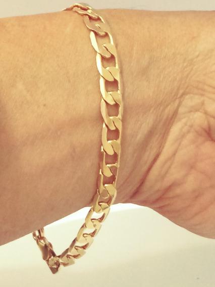 Pulseira Cordao Masculino Banhada À Ouro 18k 10 Camadas P015