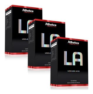 Kit Atacado 3x La Linoleic Acid 120 Caps - Atlhetica