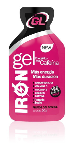 Gel Energetico Iron Gel +cafeina+ginseng X 24 Unid Sin Tacc