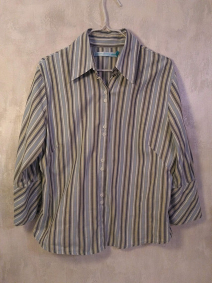 Camisa Soho Rayada Celeste