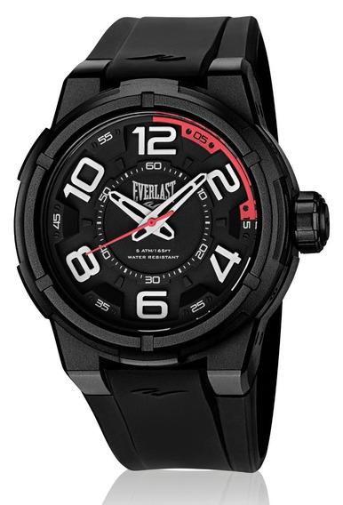 Relógio Pulso Everlast Masculino Esporte Silicone Preto E690