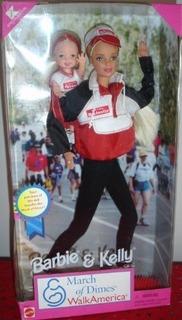 Barbie Y Kelly March Of Dimes Walk America Nib Nuevo
