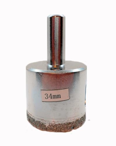 Imagen 1 de 6 de Mecha Diamantada 34mm Vidrio Cerámica Mármol Porcelanato