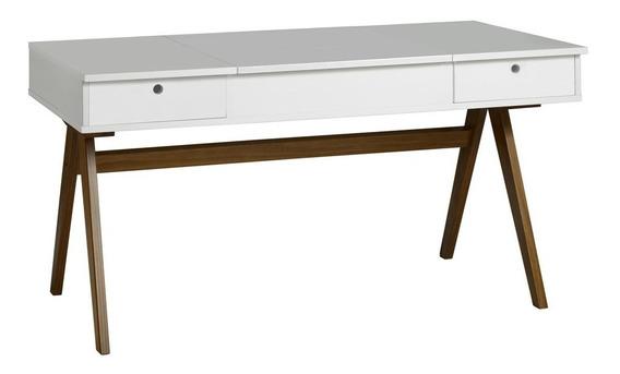 Mesa Escrivaninha Delacroix 430 Nogal/branco - Maxima