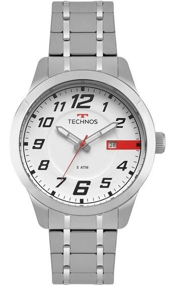 Relógio Technos Masculino Ref: 2115mow/1b Casual Prateado