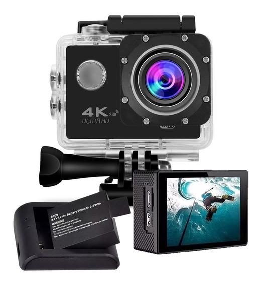 Action Pro 4k Camera Filmadora + Bateria 900mah + Carregador