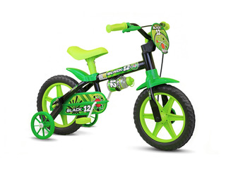 Bicicleta Infantil Aro 12 Black Menino - Nathor