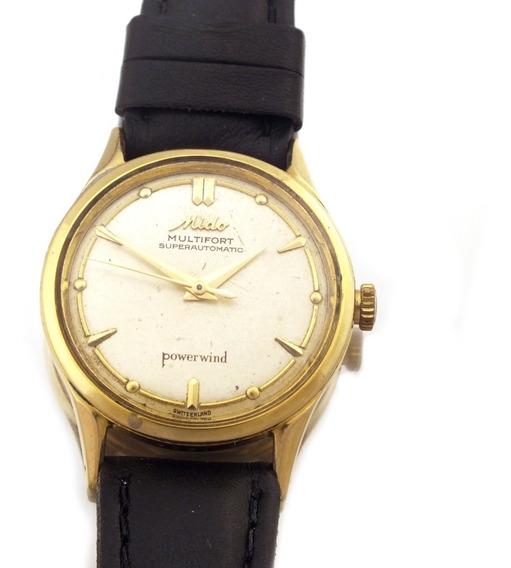 Mido Multifort Automatico Relógio Pulso Ouro Maciço J10868