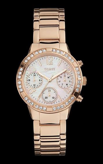 Relógio Guess Feminino Rose Com Cristais 92551lpgsra2