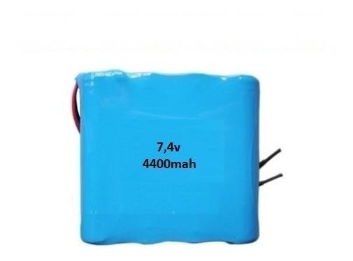 Bateria Pack 7,4v Li-ion 4400mah 4* 18650 - Recarregável