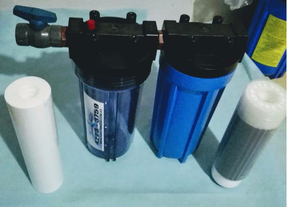 Filtro De Agua Doble Filtracion Cloro-sedimentos 3/4 Purity