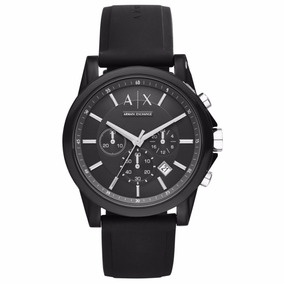 Relógio Armani Exchange Masculino Ax1326 - Pulseira De Silic