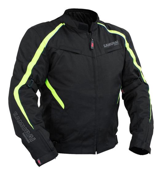 Campera Moto Samurai Monaco Neon Sport Abrigo Desmontable To