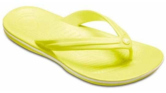 Sandalia Crocs Dama Crocband Flip Amarillo