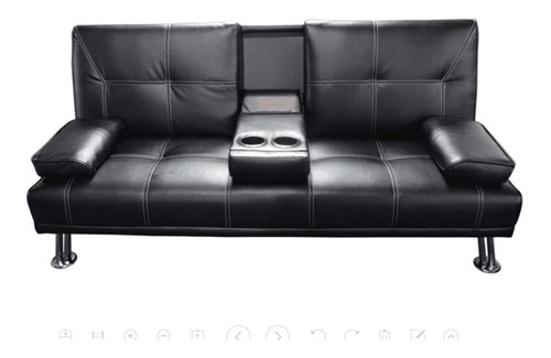 Sofa Cama Juego De Living Sillon Color Negro Modena