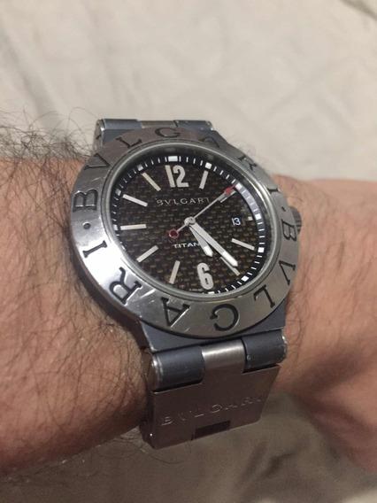 *abaixei!* Relógio Bvlgari Titanium 44mm