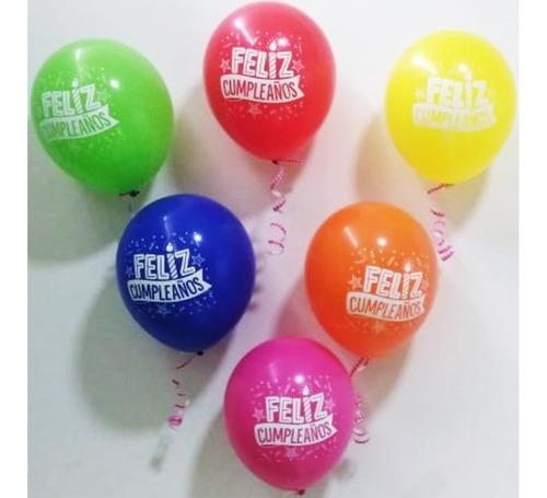 Globo R-12 Sempertex X 50 Feliz Cumpleaños Fiesta 2 Fashion