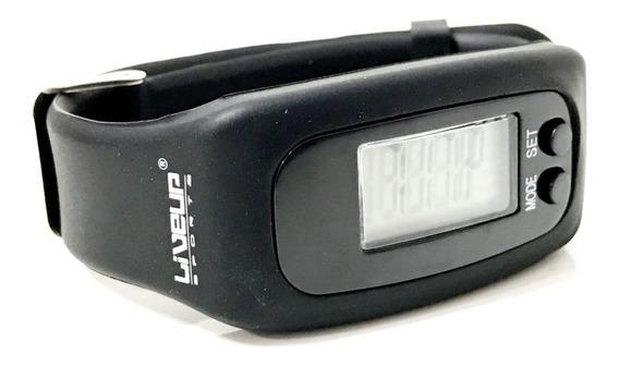 Relógio Pedômetro Digital De Pulso Preto