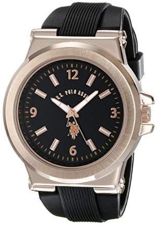 Relógio .u.s Polo Assn. Usc90006 Dourado Original.