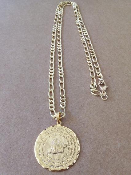 Corrente E Pingente Medalha Semijoia