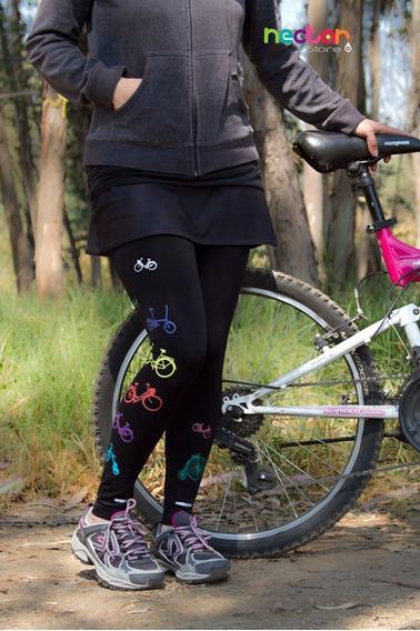 Leggings Mallónes Para Mujer De Algodón Tr038 Bicicletas