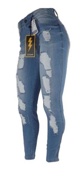 Calça Jeans Zoomp Feminina Rasgada-uni000652-universizeplus