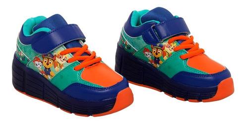 Zapato Ruedas Paw Patrol Azul T 28- 29- 30 -31
