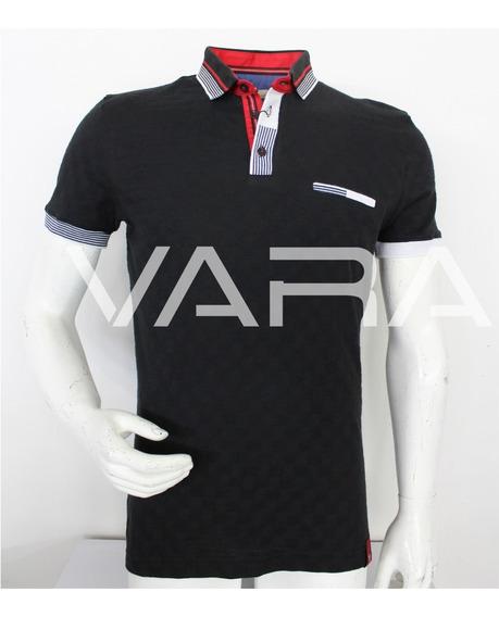 Playera Hombre Tipo Polo 955v4 Slim Fit Moda Varanasi