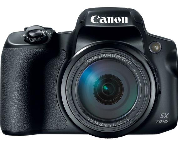 Câmera Canon Powershot Sx70 Hs 20.3 Mp Uhd/4k Preto