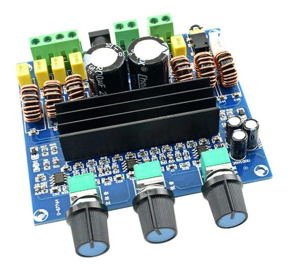 Placa Amplificador 2.1 - 200w Rms: 50w+50w+100w Montada
