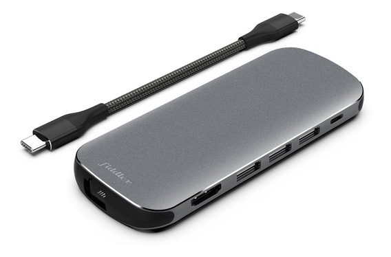 Adaptador Hub Usb-c Fiddler Multipuerto 9 -1 Apple/notebook