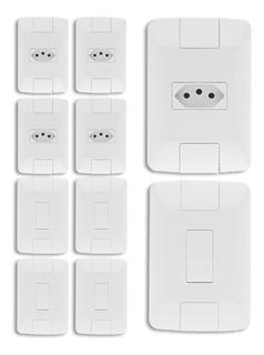 10 Conjunto Tramontina Aria 4x2 Interruptor 6a + Tomada 10a