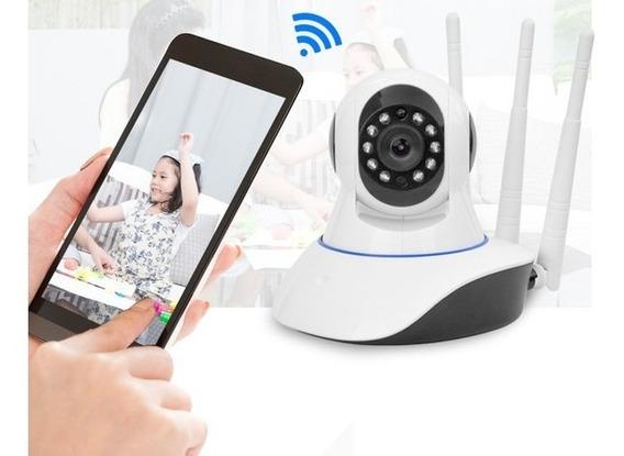 Camara Ip Wifi De Seguridad Hd Motorizada P2p Graba, Audio