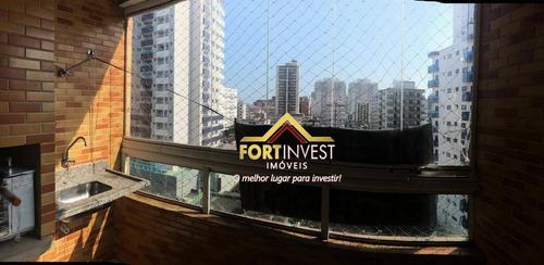 Apartamento Com 2 Dormitórios À Venda, 65 M² Por R$ 260.000,00 - Vila Assunção - Praia Grande/sp - Ap0918
