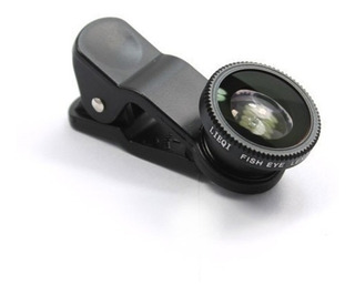 Kit Lente 3x1 Macro Wide Fishe Eye Para iPhone 4 4s 5 5c 5s