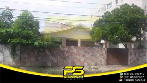 Casa, Solta, 03 Quartos, Suite, Closed, 03 Salas, Copa Cozinha, 472m² À Venda Por R$ 400.000 - Jardim São Paulo - João Pessoa/pb - Ca0514