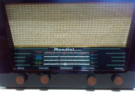 Radio Antigo De Mesa Transistorizado Mundial