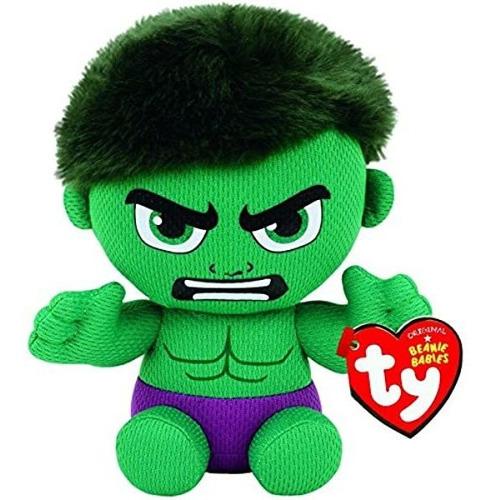 Imagem 1 de 3 de Hulk Marvel  Pelúcia 16cm Beanie Babies Dtc Ty