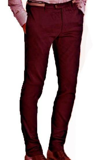 Pantalon Chino Chupin Saten Pantalon De Vestir Hombre, Local